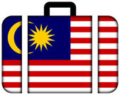 Suitcase with Malaysia Flag — Stock Photo