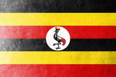 Uganda Flag painted on leather texture — Stock Photo