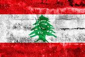 Lebanon Flag painted on grunge wall — Stock Photo