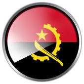 Angola Flag glossy button — Stock Photo