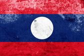 Bandera de laos grunge — Foto de Stock