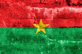 Burkina Faso Flag painted on grunge wall — ストック写真