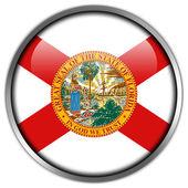 Florida Flag glossy button — Stock Photo
