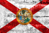 Florida Flag painted on grunge wall — Stock fotografie