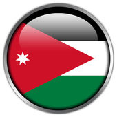 Jordan Flag glossy button — Stock Photo