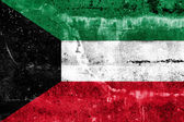 Kuwait Flag painted on grunge wall — Stok fotoğraf