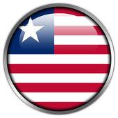 Liberia Flag glossy button — Stock Photo