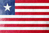 Liberia Flag painted on leather texture — Stock Photo