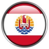 French Polynesia Flag glossy button — Stock Photo