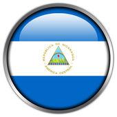 Nicaragua Flag glossy button — Stock Photo