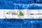 Nicaragua Flag painted on grunge wall — Foto Stock