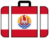 Suitcase with French Polynesia Flag — Stock Photo