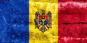Grunge duvara boyalı moldova bayrağı — Stok fotoğraf