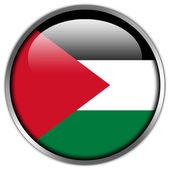 Palestine Flag glossy button — Stock Photo