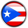 Puerto Rico Flag glossy button — Stock Photo