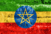 Ethiopia Flag painted on grunge wall — Stock fotografie