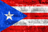 Puerto Rico Flag painted on grunge wall — ストック写真