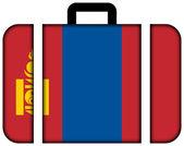 Suitcase with Mongolia Flag — Stock Photo