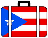 Suitcase with Puerto Rico Flag — Stock Photo