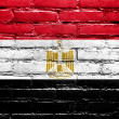Stock Photo: Egypt Flag painted on brick wall