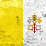 Grunge Vatican City Flag — Stock Photo