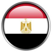 Egypt Flag glossy button — Stock Photo