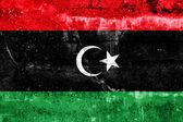 Libya Flag painted on grunge wall — Stock Photo