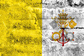 Vatican City Flag painted on grunge wall — Stock fotografie