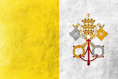 Vatican City Flag painted on leather texture — Stock Photo