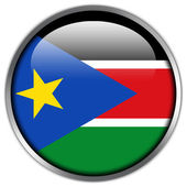 South Sudan Flag glossy button — Stock Photo