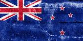 Flaga nowej zelandii namalowane na ścianie grunge — Zdjęcie stockowe