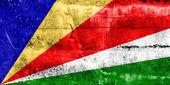 флаг сейшельских островов, роспись на стене гранж — Стоковое фото