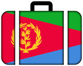 Suitcase with Eritrea Flag — Stock Photo