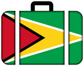 Suitcase with Guyana Flag — Stock Photo
