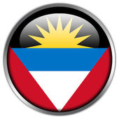 Antigua and Barbuda Flag glossy button — Stock Photo