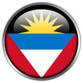 Antigua and Barbuda Flag glossy button — Stock Photo
