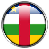 Central African Republic Flag glossy button — Stock Photo