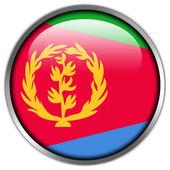 Eritrea Flag glossy button — Stock Photo