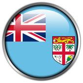 Fiji Flag glossy button — Stock Photo