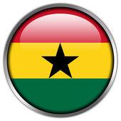 Ghana Flag glossy button — Stock Photo