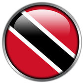 Trinidad and Tobago Flag glossy button — Stock Photo