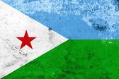 Grunge Djibouti Flag — Stock Photo