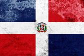 Drapeau de République dominicaine de grunge — Photo
