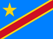 Democratic Republic of the Congo Flag — Stok fotoğraf