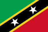 Saint Kitts and Nevis Flag — Stock fotografie