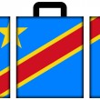 Suitcase with Democratic Republic of Congo Flag — Stock Photo #39680075