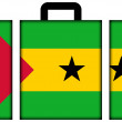 Stock Photo: Suitcase with Sao Tome and Principe Flag
