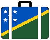 Koffer mit salomonen-flag — Stockfoto