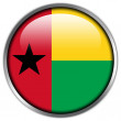 Guinea Bissau Flag glossy button — Stock Photo