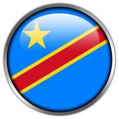 Democratic Republic of the Congo Flag glossy button — Stockfoto